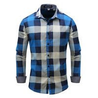 Wholesale New European and American foreign trade men s men s spring summer autumn and winter long sleeve denim shirt collar shirt business casual fac