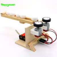 Wholesale educational wood - Happyxuan Diy Small Ball Emitter Science Experiment Material Students Handmade Assembling Electric Model Kids Educational Toy