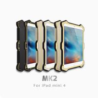 Wholesale Ipad Mini Cases Metal - Waterproof Dirtproof Shockproof LOVE MEI MK2 Heavy Duty Metal Aluminum Gorilla Glass Armor Case Cover For Apple IPad Mini 4