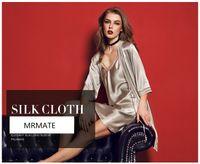 Wholesale Satin Nightdress Set - MRMATE luxury satin silk robe & gown sets two pieces bathrobe + nightdress bridesmaids wedding nightwear set for women fashion hot
