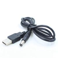 Wholesale universal dc jack resale online - USB Power Charging Cable mm mm USB TO DC mm Power Cable jack black color