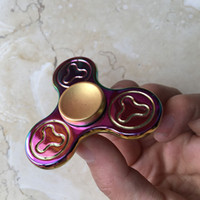 Skateboard wholesale price skateboards - Factory Price Tri spinner fidget spinner rainbow color quite fidget hand spinner EDC toy dhl freeshippig in one day