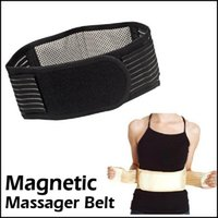 Wholesale Infrared Slimming Belt - 100ps Hot Magnetic Slimming Massager Belt Lower Back Support Waist Lumbar Brace Belt Strap Backache Pain Relief Health Care NEW