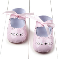 Wholesale First Diamonds - Wholesale- Hot Sale Newborn Toddler Baby Girl Soft Sole Diamond Princess Crib Shoes Kids First Walk Shoes 0-12M New