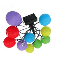 Wholesale Christmas Lantern Chinese - Outdoor Lantern LED Solar Lamp Multicolor Solar Chinese Lantern Light Mini Colorful Lantern String Lighting Garden Christmas Decoration Lamp