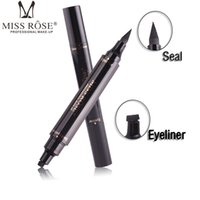 Wholesale Pen Seal - Miss Rose Stamp Eyeliner & Seal Pencil Professional Eye Makeup Tool Double Heads Two Heads Eyeliner Pen