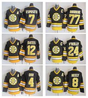Wholesale adam oates - Boston Bruins 4 Bobby Orr 12 Adam Oates 8 Cam Neely 77 Ray Bourque 24 Terry OReilly Ice Hockey Jersey Stitched