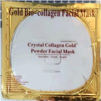 Wholesale Powder Beauty Mask - Facial Mask Gold Bio - Collagen mud Face sheet Masks Golden Crystal Powder Moisturizing Anti aging Whitening Skin Care Smoother beauty DHL