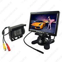 Wholesale Stand Headrest Monitor - FEELDO Car DC24V 7Inch TFT LCD Stand-alone Headrest Monitor With Truck Bus CCD Camera Auto Rear View System #3780