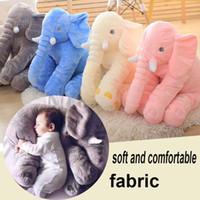 Wholesale Soft Plush Elephant Toy - elephant pillow baby doll children sleep pillow birthday gift INS Lumbar Pillow Long Nose Elephant Doll Soft Plush OTH557