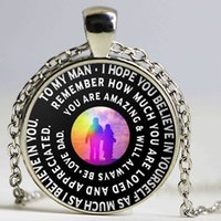 Wholesale Neclace Pendants - Father And Son Necklace To My Son Never Forget That I Love You Neclace free shipping
