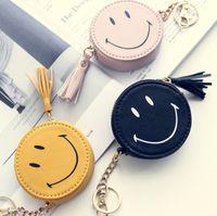 Wholesale Smile Wallet - 2017 New Style Cute Smile Face Coin Purses Zero Wallet Cartoon Mini Bag Mini Hand Bag