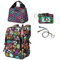 Wholesale VB Bag Cotton Mickey Campus Backpack with Mickey Lunch bag free card bag