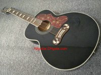Wholesale Semi Acoustic - 2017 new brand guitar SJ200 12 strings black acoustic guitar in stock China guitars