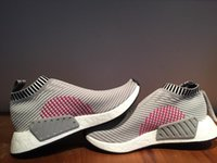 Wholesale Hot Pink Bowling Shoes - NMD CS2 Grey White Shock Pink ,NMD CS2 PK in Black Shock Pink 2017 Ultra Boost,Women Men Hot Selling Shoes,Spring Summer 2017 Footwear