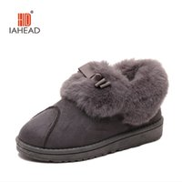 Wholesale Soft Soled Indoor Shoes - Wholesale-2016 New Warm Soft Sole Women Indoor Floor Slippers Flannel Home Slippers 2 Color Flock Plush winter women shoes UPB38