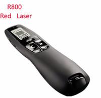 Wholesale Wireless Pointer Powerpoint - R800 Wireless Presenter 5MW Red Laser Pointer 2.4 GHz Remote Control Powerpoint Clicker with USB Receiver