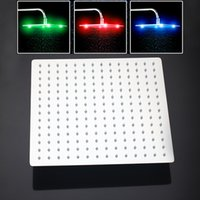 Wholesale Led Floor Design - LED Contemporary Fashional in Design and Superb in Workmanship Chrome Square Bathroom Heads