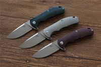 Wholesale Products For Hunting - New Product CH3504 folding knife titanium handle AUS-8 blade Flipper hunting knife camping pocket Survival knives EDC tool best gift for men