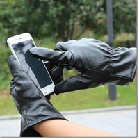 Wholesale Iphone Keep - New leather multi unisex outdoor winter driving PU leather gloves touch screen Gloves fashion Keep warm gloves