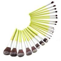 Wholesale 23pcs Makeup Brushes - 23Pcs  Set Makeup Brushes Attached Bamboo Professional Brush Set Kit Face Foundation Powder Synthetic Hair Brushes