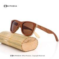 Wholesale Skateboard Wood Sunglasses - Wholesale- KITHDIA Spring Polarized Sunglasses Skateboard wood sunglasses Colorful wood bamboo sunglasses with polarized uv400 lense
