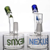 Wholesale Nexus Water - Colored Nexus Glass Water Pipes Green Heady Glass Recycler Oil Rigs Smoking Pipes 2 Function beaker Bongs Bubbler Hookhs Green Glass Bong