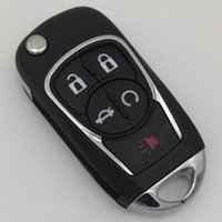 Wholesale Buick Remote - 2017 new auto flip folding remote key case for Buick 5 buttons remote key blank shell FOB