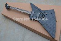Wholesale E Sp - E SP - Retail Explorer electric guitar Artistic beautyblack with satin black black hardware finished EMS FREE SHIP
