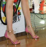 Wholesale Korean Ladies Shoes Sandals - Free Shipping2017 Korean stage show style Vogue office lady flock Shoes Women high heeled Sandals Female Sexy Summer Heels Zapatos Mujer 9cm