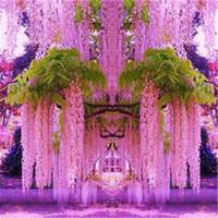 çiçek tohumları toptan satış-10 adet Mor Wisteria Çiçek Tohumları Çok Yıllık Tırmanma Bitkiler Bonsai Ev Bahçe
