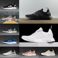 Wholesale Mesh Flat Shoes - 2017 NMD Runner R1 Primeknit White Red Blue NMD Runner Sports Shoes Men Woman NMD shoes boost Running shoes EUR 36-44