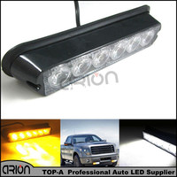 Wholesale Emergency Hazard Led - Hot Sale 6 LED 6W Car Truck Emergency Hazard Strobe Warning Flash Grille Lights Lamp Recovery Light Yellow Amber White12-24V