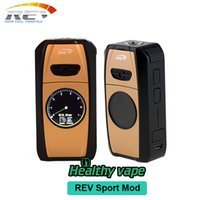 Wholesale Electronic Cigarettes Powerful Batteries - Original REV SPORT MOD 101W TC Ecig 4200mAh built in battery mods electronic cigarette vape mod with powerful performance and fast VS GTS