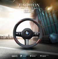 Wholesale Steering Wheel Cover Wholesale - Newest Microfiber PU Car Steering Wheel Cover anti-skid Breathable black, red, blue, yellow, gray, brown, light yellow Beige Car Accessorie