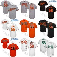 Wholesale Authentic Jersey 56 - Men's YOUTH Baltimore Orioles Jersey 56 Darren O'Day Authentic Baseball Jersey flexbase cool base Embroidery stitched S-4XL