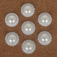 flores de imitación de china al por mayor-Alta calidad Multi-tamaño Handcraft ABS blanco perlas de imitación perlas de flores para DIY joyería artesanal haciendo