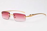 Wholesale Wayfarer Original - 2017 wayfarer gold silver frame glasses brand designer woman sunglasses vintage rimless black brown mirror lens glasses with original case