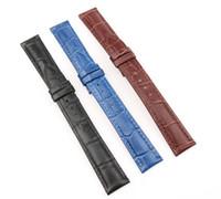 relojes para hombre panerai al por mayor-Correas de reloj de cuero genuino 16mm Correa de reloj de alta calidad para hombres y mujeres Marrón Negro Azul Correa de reloj vintage