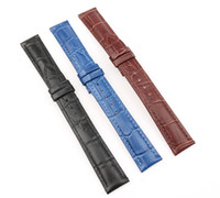 Wholesale Strap For Panerai - Genuine Leather Watchbands 16mm High Quality Watch Strap For Men And Women Brown Black Blue Vintage Watchband-band