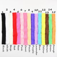 Wholesale Crown For Sale Baby - free shipping 50pcs lot Hot Sale Baby Girls headband 2cm Lace Infant Elastic Crown Hair Band Accessories 15colors for choose D032