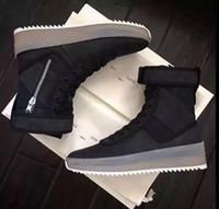 boot dhl gratuit achat en gros de-DHL Libre Peur de Dieu Militaire Sneaker Noir Gomme Numbuck Brouillard Fabriqué En Italie militaire bottes High Cut Hiver bottes taille 36-45