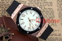 Wholesale Round Spots Mm - New Fashion Men Big Watch Golden Stainless steel High Quality Male Quartz moment mens luxury fashion spot aaa rubber wristwatches free shopp
