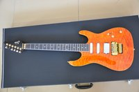 Wholesale Electric Guitar Quilted Maple - Wholesale- Suhr custom guitar Golden floyd rose electric guitar Quilted maple top Mahogany body with Ebony fingerboard
