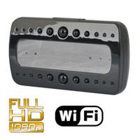 видеоролики оптовых-Мини 1080P Wi-Fi HD Часы Беспроводная IP-камера ИК ночного видения Видеорегистратор няня радионяня камеры