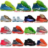 2018 chaussures de football pour enfants originales Mercurial Superfly V SX  Neymar Turf AG FG chaussures de football chaussures de football pour garçon