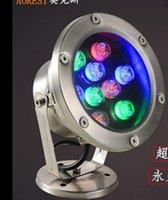 spot ışığı paslanmaz toptan satış-Led sualtı ışıkları renkli sualtı ışıkları çeşme ışıkları su geçirmez spot paslanmaz çelik 6 w 9 w 12 w 18 w AC24V
