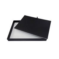 kolyeler için mücevherat vitrin tepsileri toptan satış-Yüksek Kalite Takı Ekran Sayaç Pad Siyah Beyaz PU Çift Yan Kullanılan Takı Bangel Kolye Izle Organizatör Depolama Tepsisi