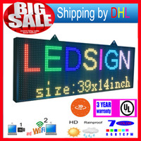 Computer or laptop outdoor display signs - Wifi wireless control led rolling display P13RGB outdoor color D effects led signs x14inch programmable display panel