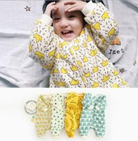 Wholesale Wholesale Cold Weather Clothes - Hot Selling Ins Baby Kids boy Girl banana crown print sleeping bag Winter Warm cotton baby kids Sleeping Bag